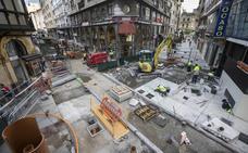 Aceras a lo grande en la calle Cervantes
