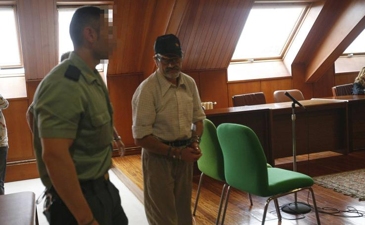 Imágenes del 'pederasta de Astillero' en distintos juicios celebrados en Santander