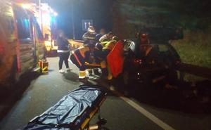 Dos heridos en una colisión entre dos vehículos en la A-8 a la altura de Islares