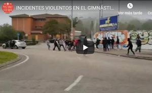 Aficionados de la Gimnástica y del Logroñés protagonizan una pelea en los aledaños del estadio