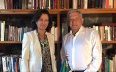 Encuentro entre López Obrador y Ana Botín en México