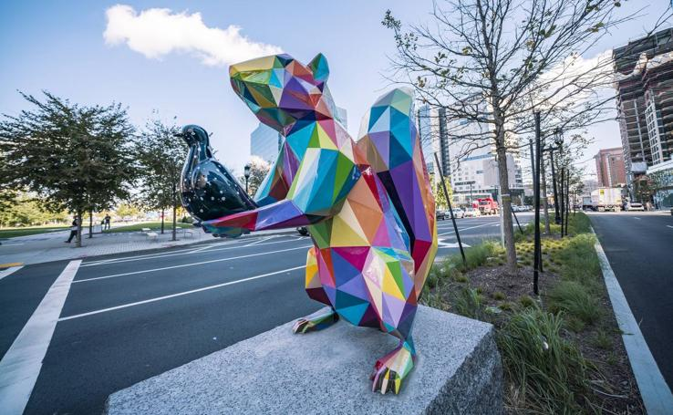 Obras de Okuda en Boston