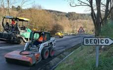 Obras Públicas destina cerca de 100.000 euros a la mejora de varios tramos de carreteras en Cartes