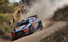 Sordo y Del Barrio se lucen en la tierra y se colocan segundos en el Rally de Cataluña