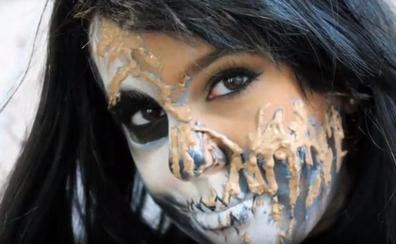 ¡Un maquillaje de miedo!