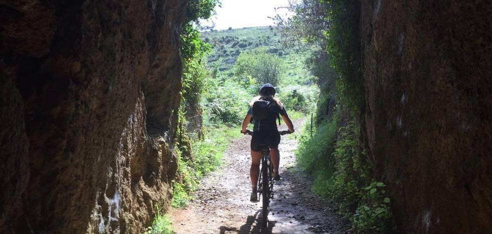 Ruta circular por la antigua mina de Udías en bici de montaña