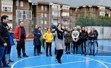 La pista de baloncesto de Nuestra Señora de Belén, en La Albericia, totalmente renovada