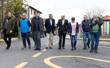 El Paseo Velasco de Liérganes ya luce nuevo pavimento