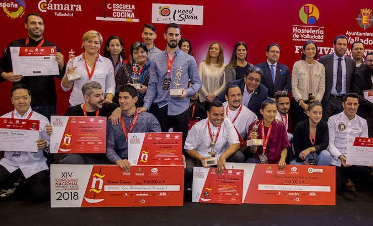 Ganadores del XIV Concurso Nacional de Pinchos y Tapas Ciudad de Valladolid y del II Campeonato Mundial de Tapas