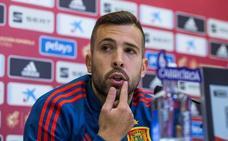 Jordi Alba: «Nunca he tenido ningún problema con Luis Enrique»
