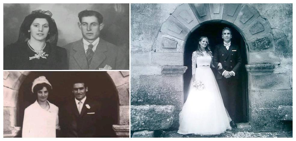 Una familia cántabra y tres generaciones de 'Sí, quiero'