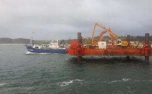 El dragado de la roca del puerto de San Vicente está a punto de concluir