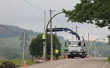 La carretera entre el Alto Marín y Hoz de Anero estará cortada por obras hasta el 29 de marzo
