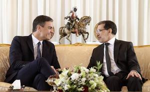 Sánchez llega a Rabat para reunirse con el rey Mohamed VI y con el primer ministro marroquí