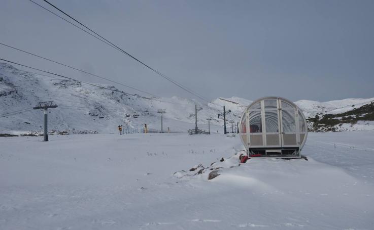 Así está este martes la estación de esquí de Alto Campoo