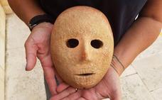 Descubierta una máscara de piedra de 9.000 años de antigüedad en Cisjordania