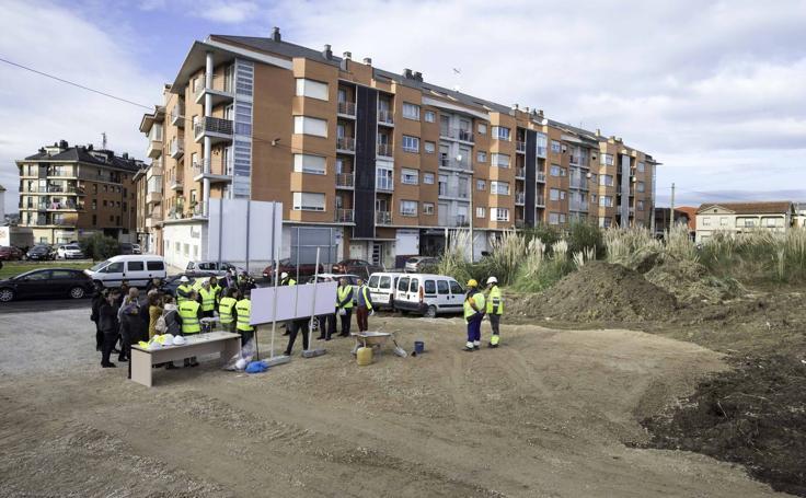Inicio de las obras de las 120 viviendas asequibles en San Román, en la calle Foramontanos