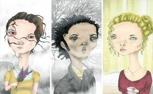 'Cumbres borrascosas' revive en ocho retratos ilustrados por Rebeca Pascua