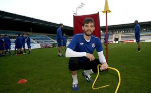 Rubén Palazuelos, baja para los próximos diez días, no jugará ante el Langreo