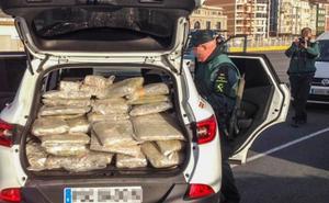 Interceptado en el Puerto de Santander un alijo de doscientos kilos para el Ferri