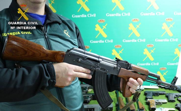 Armas incautadas en la operación Golalde
