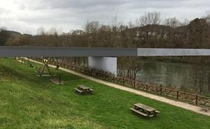 Salto al río con la nueva pasarela