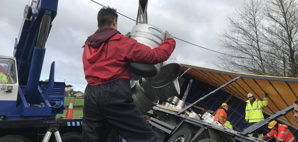 Concluye la retirada de los 22.000 litros de cerveza