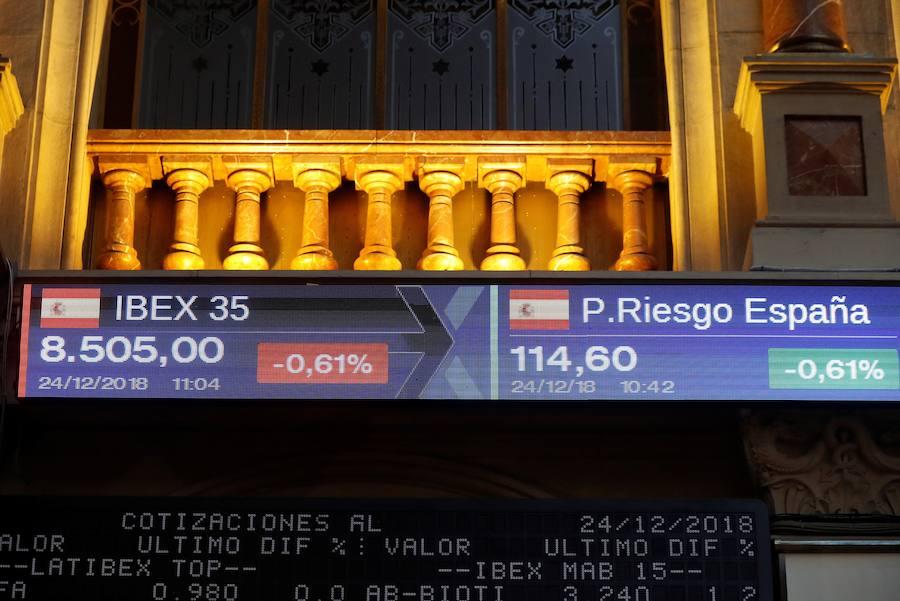 El IBEX pierde 0,89 % y los 8.500 puntos por primera vez desde agosto de 2016