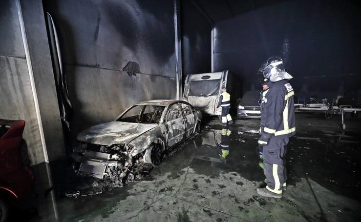 Incendio en un taller de Unquera