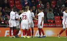 El Sevilla abre la trilogía ante el Athletic sentenciando en Copa