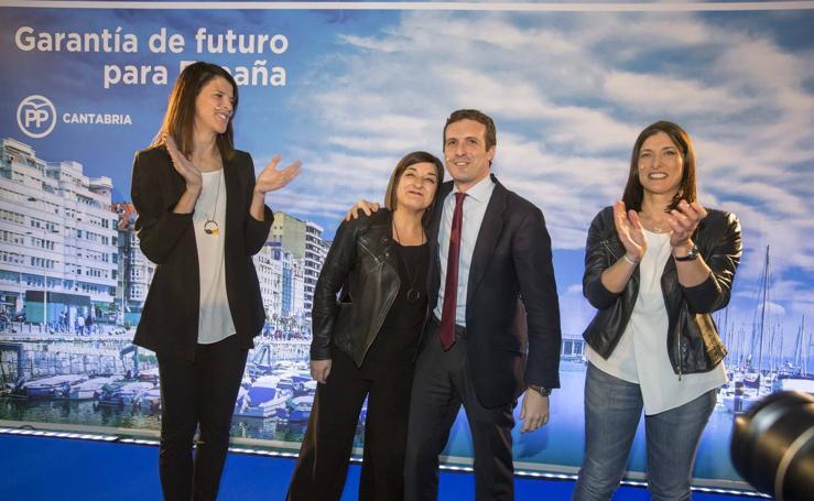 Pablo Casado presenta a las candidatas del PP: Ruth Beitia y Gema Igual