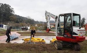 Las obras de ampliación permitirán triplicar la superficie del parque infantil de Ganzo