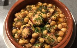 Garbanzos con pulpo