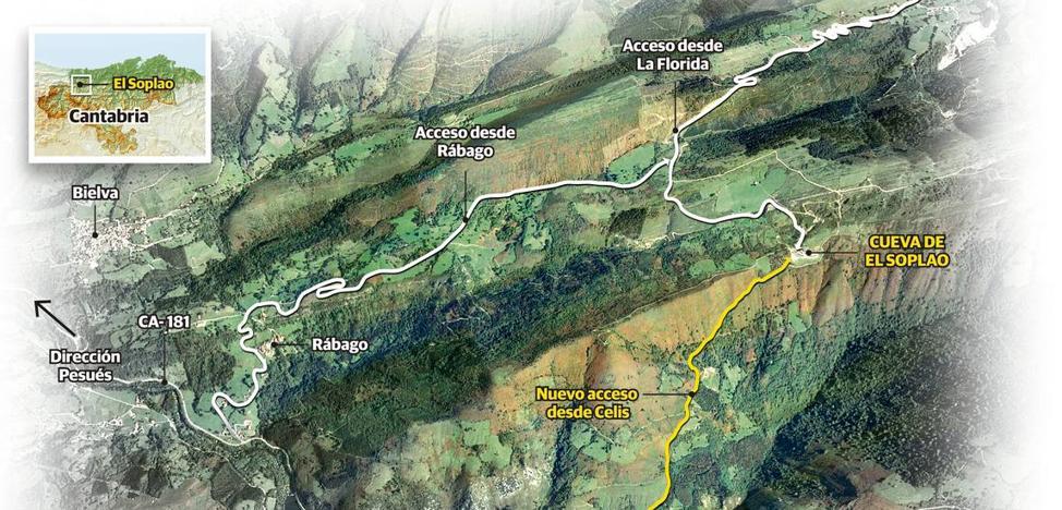 El Gobierno adjudica la construcción del tercer acceso a la cueva de El Soplao por 750.000 euros