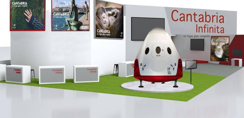 Cantabria se presentará en Fitur a bordo de una nave espacial como «destino turístico multiexperiencia»