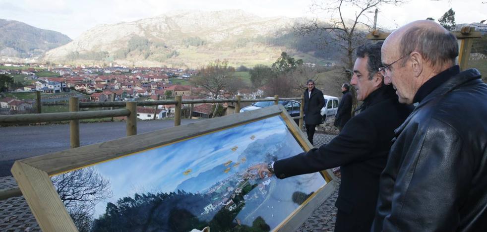 Turismo acondiciona la zona de descanso del Mirador de La Varga en San Felices