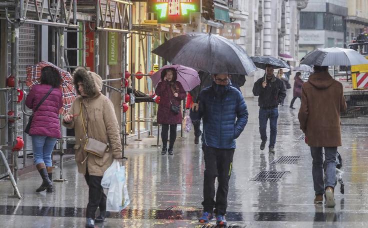 Lluvias persistentes en toda Cantabria