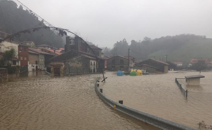 Imágenes de las inundaciones en Molleda