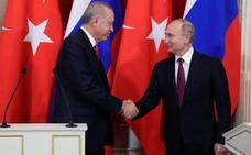 Putin y Erdogan discuten una zona de seguridad siria