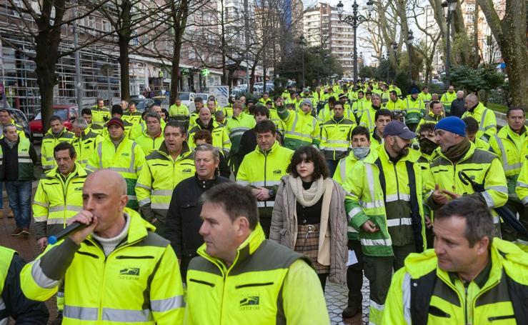 Protesta de los trabajadores de Parques y Jardines de Santander