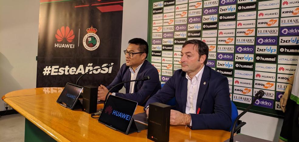 El Racing sella su acuerdo de «acompañamiento» con Huawei