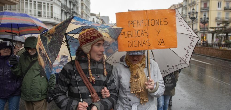 La jubilación media de Cantabria se sitúa en 1.200 euros mensuales al cerrar 2018