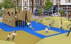 Comienzan las obras de instalación del parque infantil de la Plaza de La Llama