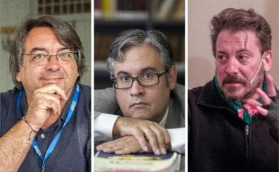 Juan Manuel de Prada, Jesús Ruiz Mantilla y Ray Loriga, en el Aula de Cultura