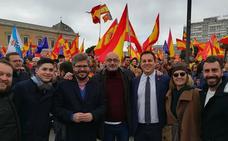 Félix Álvarez encabeza la delegación de Cs en la manifestación de Madrid
