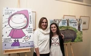 Una laredana gana el premio juvenil de un certamen de diseño de sellos