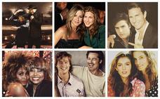 Las 'celebrities' posan junto a su 'yo del pasado'