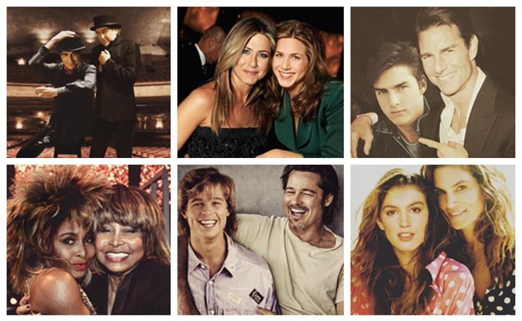 Los famosos viajan a su pasado gracias al Photoshop