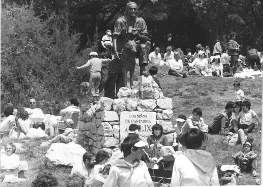 Homenaje a Félix Rodríguez de la Fuente en Santander