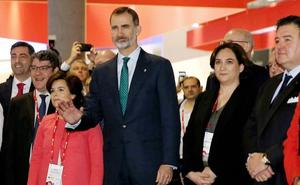 Torra y Colau plantarán al Rey en la recepción del Mobile World Congress